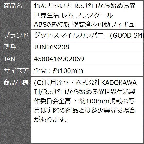 ねんどろいど Re:ゼロから始める異世界生活 レム ノンスケール ABS&PVC製 JUN169208(全高:約100mm)|zebrand-shop|08