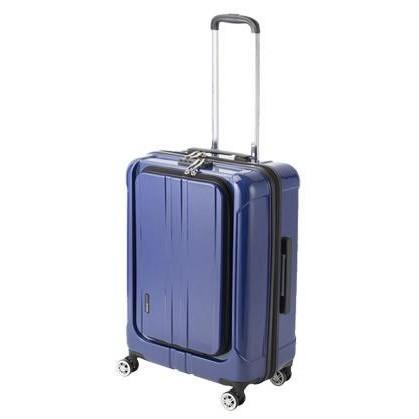 協和 ACTUS(アクタス) スーツケース フロントオープン ポライト Lサイズ ACT-005 ブルーヘアライン・74-20352 3.9kg キャリーケース ツインホール