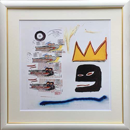バスキア「四匹のワニ」ジクレー版画49.5cm×49.5cm額縁つき版画