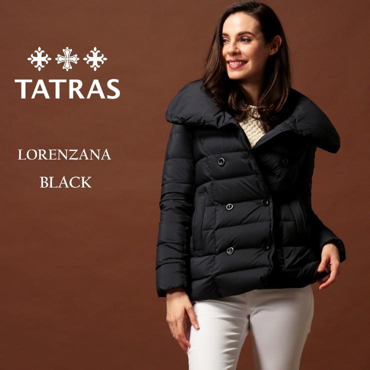 超高品質で人気の タトラス ダウン レディース TATRAS ダウンジャケット ダブル ボリュームネック LORENZANA ロレンツァーナ BLACK ブランド アウター ショート TRLTA20A4698, 新しい faeb22e8