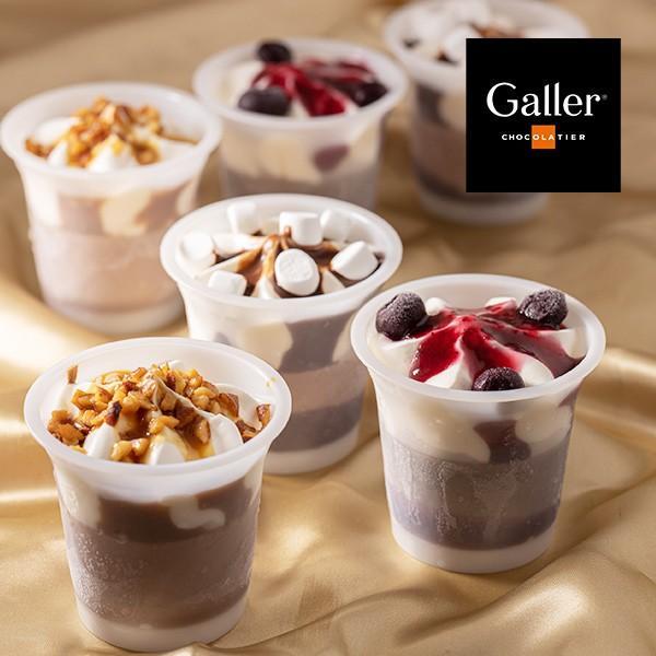 お歳暮 アイス ギフト ベルギー王室御用達 Galler(ガレー)監修 チョコ アイスパルフェ 6個 御歳暮|zenzaemon