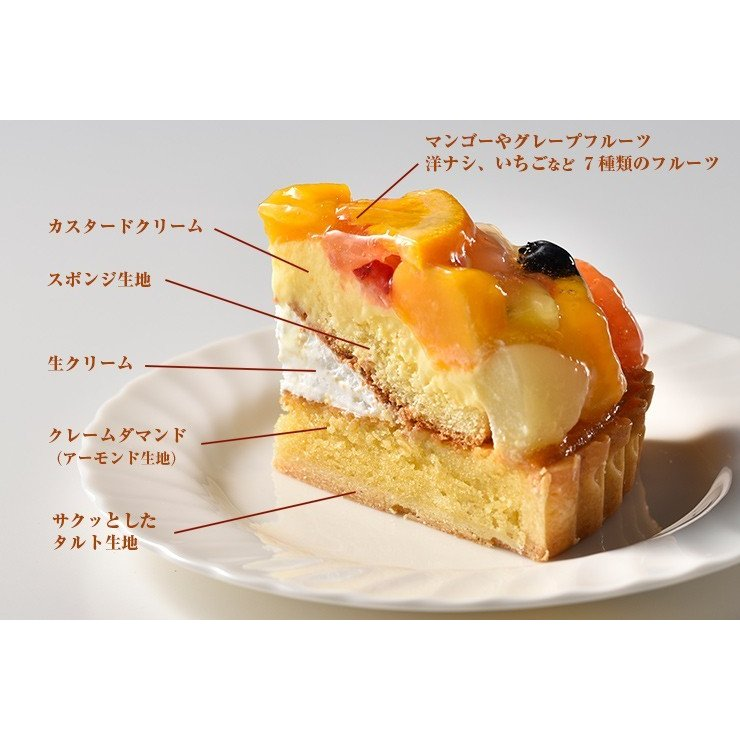 父の日 プレゼント 銀座千疋屋 銀座タルト(フルーツ) 5号 フルーツタルト ケーキ 誕生日|zenzaemon|04