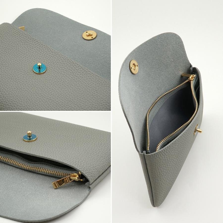 ドイツシュリンク ふっくら 可愛い 長財布 弾力ある革が魅力の カブセ型 本革 レディース 財布 マグネット式 (グレー) zeppinchibahonpo 05