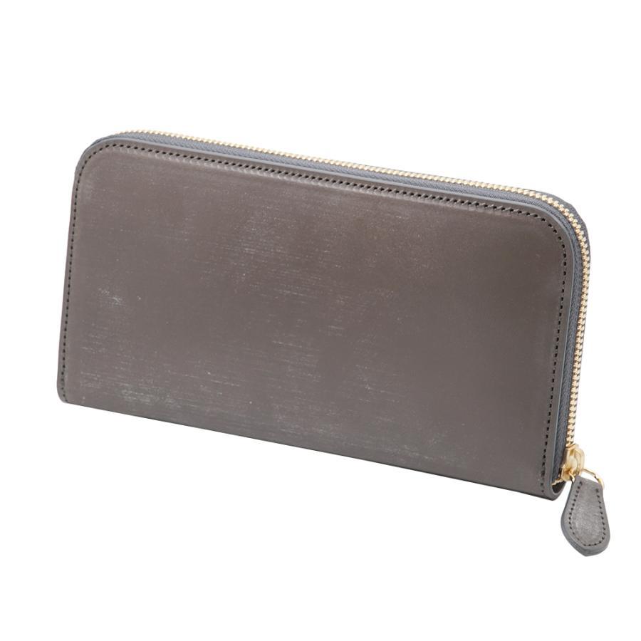 英国 最高級 皮革 ブライドルレザー 経年変化が愉しめる 財布 本革 メンズ ラウンドファスナー 長財布 (トープ)|zeppinchibahonpo