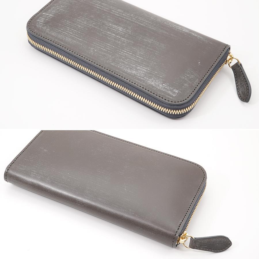 英国 最高級 皮革 ブライドルレザー 経年変化が愉しめる 財布 本革 メンズ ラウンドファスナー 長財布 (トープ)|zeppinchibahonpo|07