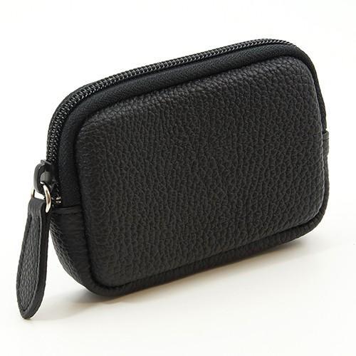 高級 本革 大人 の マルチポーチ 小さなお出かけバッグも すっきり 整理 手のひらサイズ 小物入れ(ブラック) zeppinchibahonpo