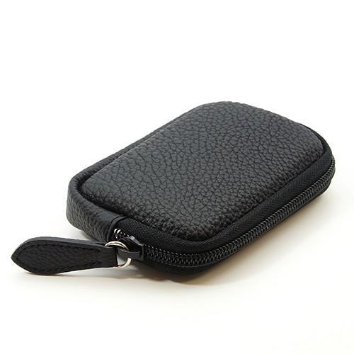 高級 本革 大人 の マルチポーチ 小さなお出かけバッグも すっきり 整理 手のひらサイズ 小物入れ(ブラック) zeppinchibahonpo 02