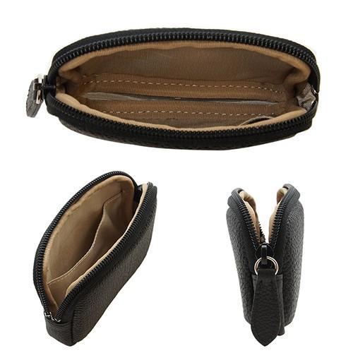 高級 本革 大人 の マルチポーチ 小さなお出かけバッグも すっきり 整理 手のひらサイズ 小物入れ(ブラック) zeppinchibahonpo 04