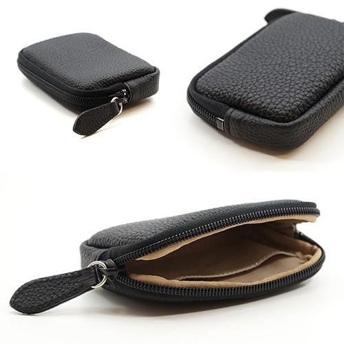 高級 本革 大人 の マルチポーチ 小さなお出かけバッグも すっきり 整理 手のひらサイズ 小物入れ(ブラック) zeppinchibahonpo 05