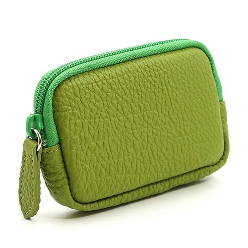 高級 本革 大人 の マルチポーチ 小さなお出かけバッグも すっきり 整理 手のひらサイズ 小物入れ(ライトグリーン) zeppinchibahonpo