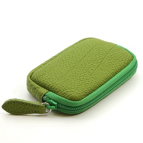 高級 本革 大人 の マルチポーチ 小さなお出かけバッグも すっきり 整理 手のひらサイズ 小物入れ(ライトグリーン) zeppinchibahonpo 02