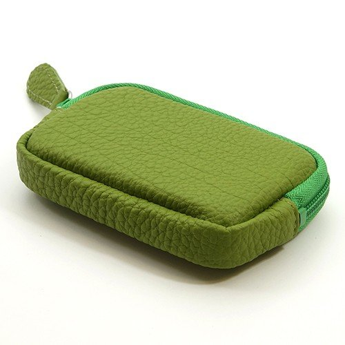 高級 本革 大人 の マルチポーチ 小さなお出かけバッグも すっきり 整理 手のひらサイズ 小物入れ(ライトグリーン) zeppinchibahonpo 03