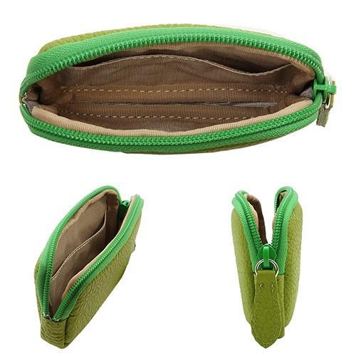 高級 本革 大人 の マルチポーチ 小さなお出かけバッグも すっきり 整理 手のひらサイズ 小物入れ(ライトグリーン) zeppinchibahonpo 04