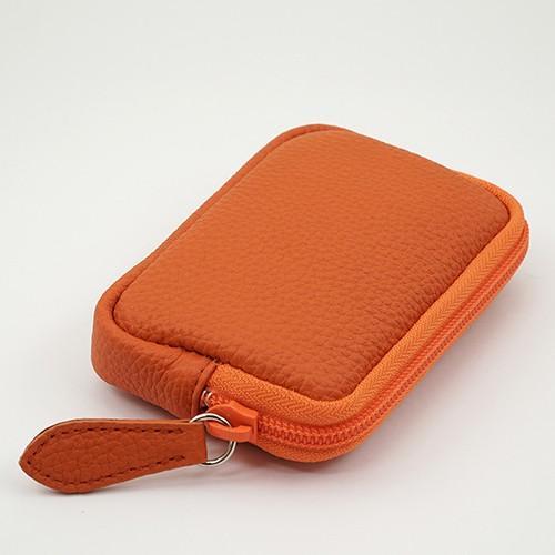 高級 本革 大人 の マルチポーチ 小さなお出かけバッグも すっきり 整理 手のひらサイズ 小物入れ(オレンジ) zeppinchibahonpo 02