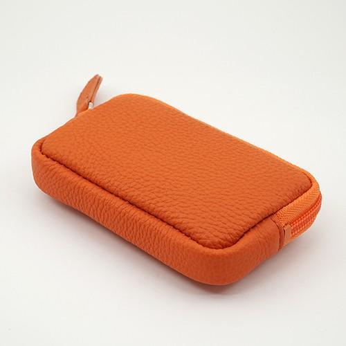 高級 本革 大人 の マルチポーチ 小さなお出かけバッグも すっきり 整理 手のひらサイズ 小物入れ(オレンジ) zeppinchibahonpo 03