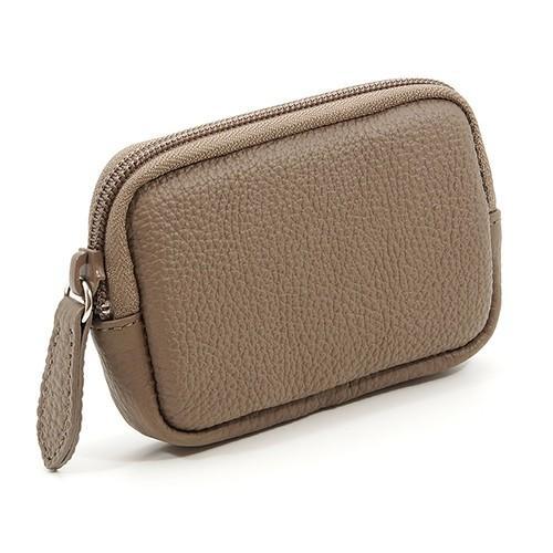 高級 本革 大人 の マルチポーチ 小さなお出かけバッグも すっきり 整理 手のひらサイズ 小物入れ(トープ) zeppinchibahonpo