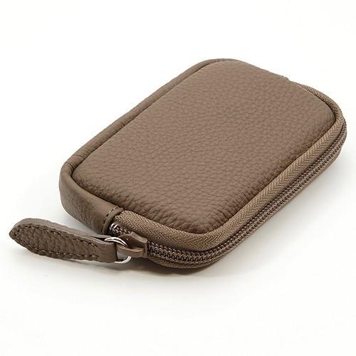 高級 本革 大人 の マルチポーチ 小さなお出かけバッグも すっきり 整理 手のひらサイズ 小物入れ(トープ) zeppinchibahonpo 02