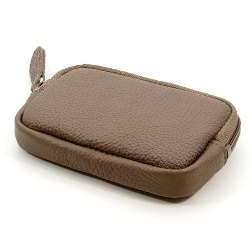 高級 本革 大人 の マルチポーチ 小さなお出かけバッグも すっきり 整理 手のひらサイズ 小物入れ(トープ) zeppinchibahonpo 03