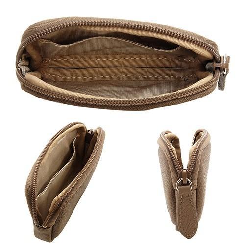 高級 本革 大人 の マルチポーチ 小さなお出かけバッグも すっきり 整理 手のひらサイズ 小物入れ(トープ) zeppinchibahonpo 04