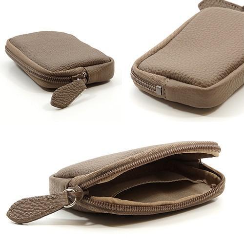 高級 本革 大人 の マルチポーチ 小さなお出かけバッグも すっきり 整理 手のひらサイズ 小物入れ(トープ) zeppinchibahonpo 05
