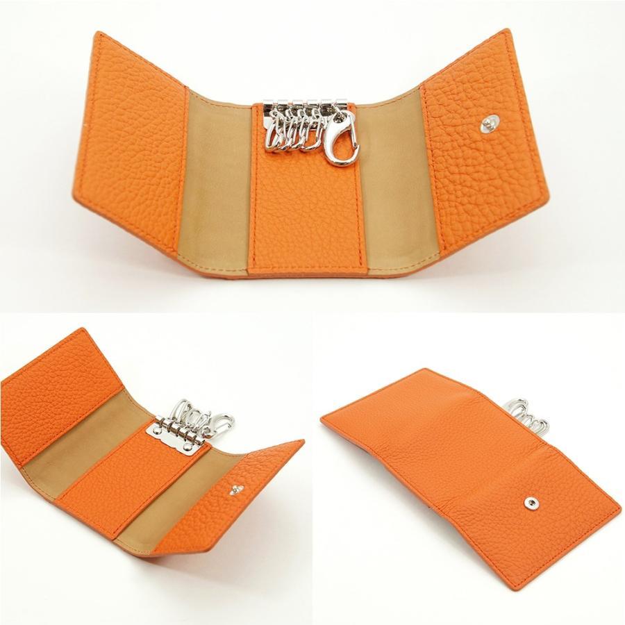 ドイツシュリンク 5連 キーケース 3つ折り カードポケット付 (オレンジ) zeppinchibahonpo 03
