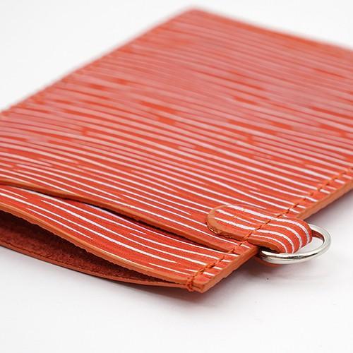 7色に光るアルゼンチンキップ パスケース オレンジ zeppinchibahonpo 03