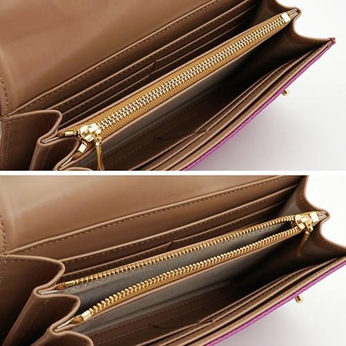 ドイツシュリンク カブセ型 マグネット 長財布 2つ釦(ボタン)と曲線が 可愛い 本革 レディース 財布  サーフ|zeppinchibahonpo|05