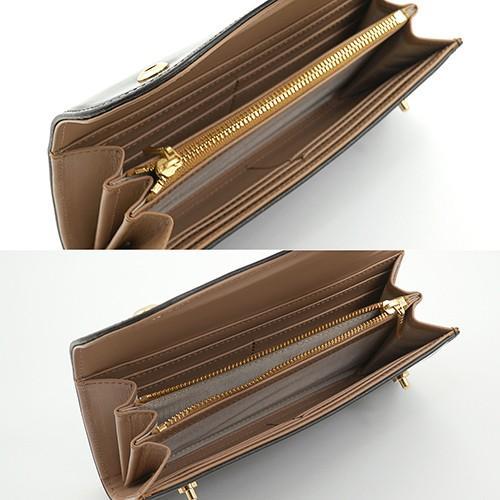 ブライドルレザー Wホック 2つボタン かぶせ型 本革 長財布 (チョコ) zeppinchibahonpo 05