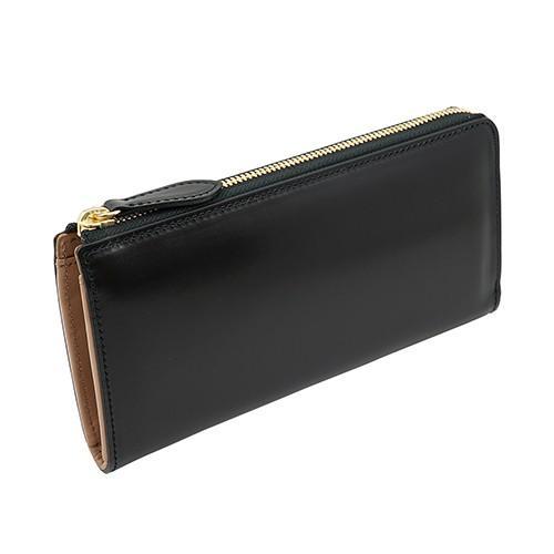 イタリアンカーフ 本革 L字ファスナー型 メンズ 長財布 ブラック zeppinchibahonpo