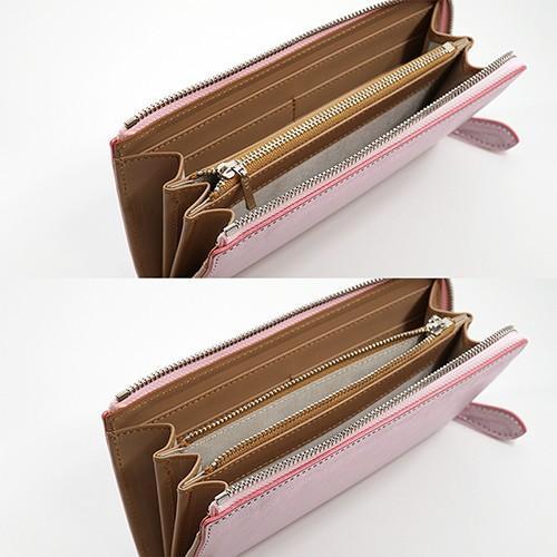 イタリアンキップ 本革 L字ファスナー型 長財布 キラキラ 可愛い レディース 財布(プラチナピンク) zeppinchibahonpo 05