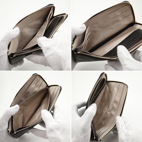イタリアンカーフ 薄型 L字ファスナー 長財布 SLIM LINE (ブラック)|zeppinchibahonpo|05