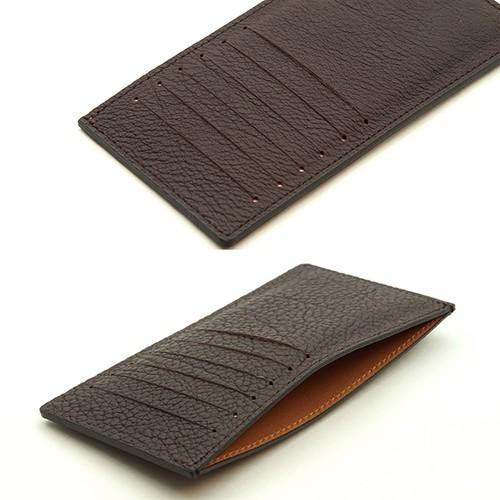 ドイツシュリンク カードケース カブセ財布にすっぽり入る カード12枚収納可能 (チョコ)|zeppinchibahonpo|03
