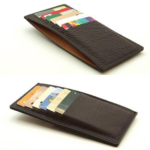 ドイツシュリンク カードケース カブセ財布にすっぽり入る カード12枚収納可能 (チョコ)|zeppinchibahonpo|04
