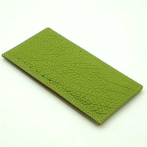 ドイツシュリンク カードケース カブセ財布にすっぽり入る カード12枚収納可能 (ライトグリーン)|zeppinchibahonpo