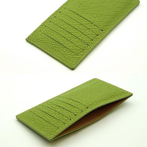 ドイツシュリンク カードケース カブセ財布にすっぽり入る カード12枚収納可能 (ライトグリーン)|zeppinchibahonpo|03