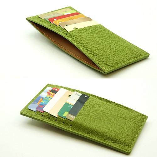 ドイツシュリンク カードケース カブセ財布にすっぽり入る カード12枚収納可能 (ライトグリーン)|zeppinchibahonpo|04
