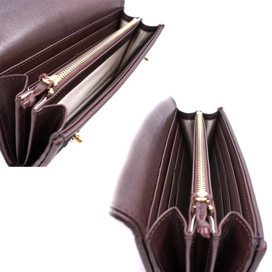 高級素材 ハラコ カブセ型 マグネット 長財布 曲線美と2つ釦(ボタン)が可愛い 本革 レデイース 財布 アニマル柄 豹柄(J)|zeppinchibahonpo|05