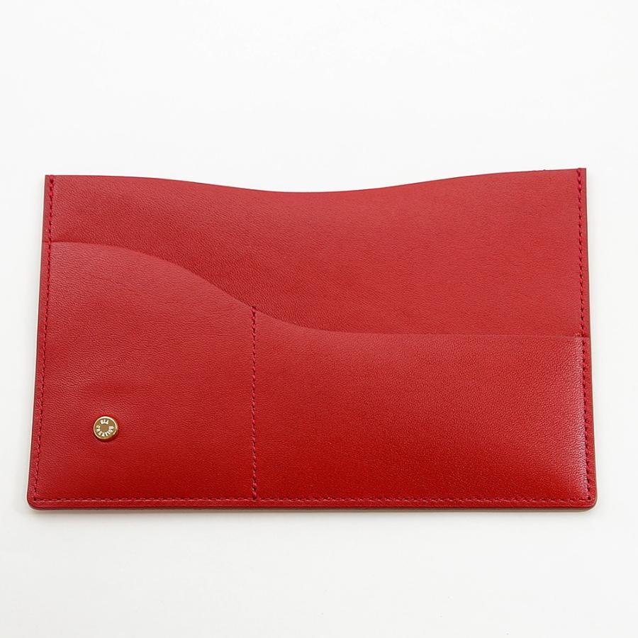 国産スムースレザー 保険証 お薬手帳 が入る バッグイン スリム マルチ カードケース ギフトにおすすめ(レッド)|zeppinchibahonpo