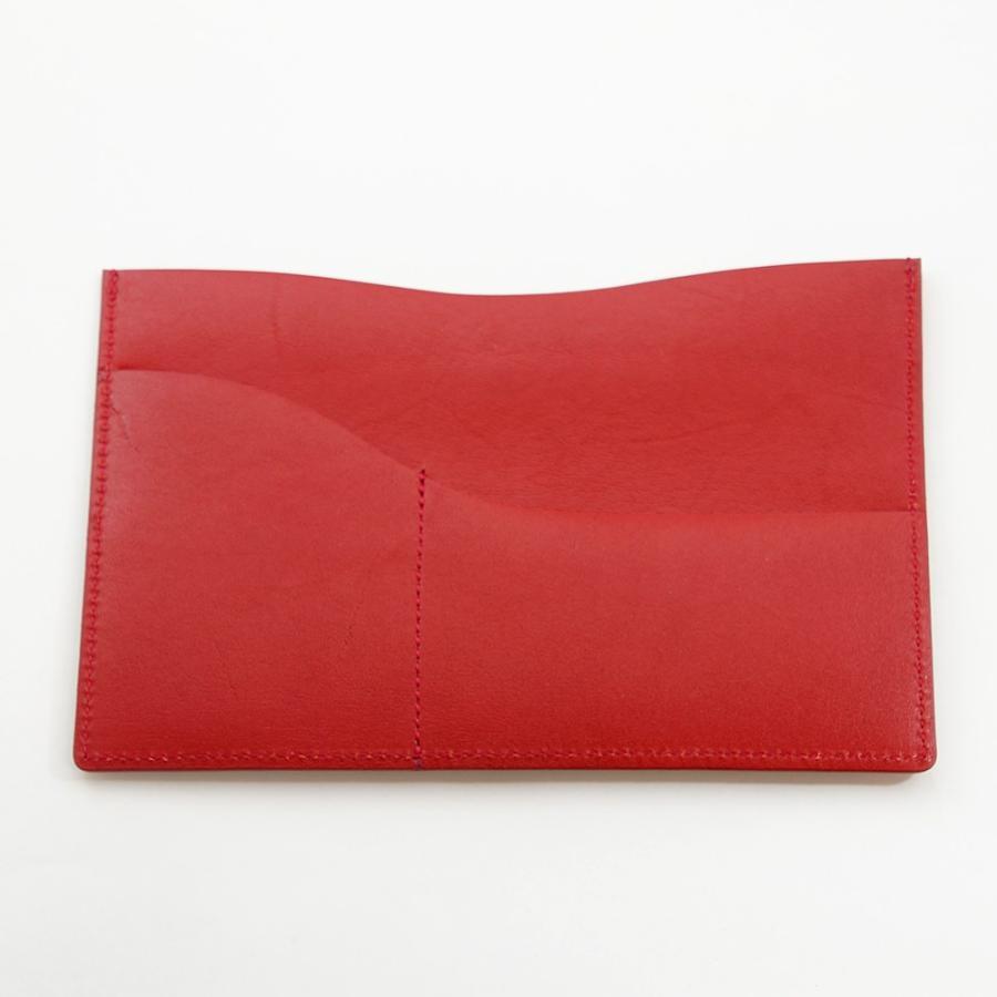 国産スムースレザー 保険証 お薬手帳 が入る バッグイン スリム マルチ カードケース ギフトにおすすめ(レッド)|zeppinchibahonpo|02