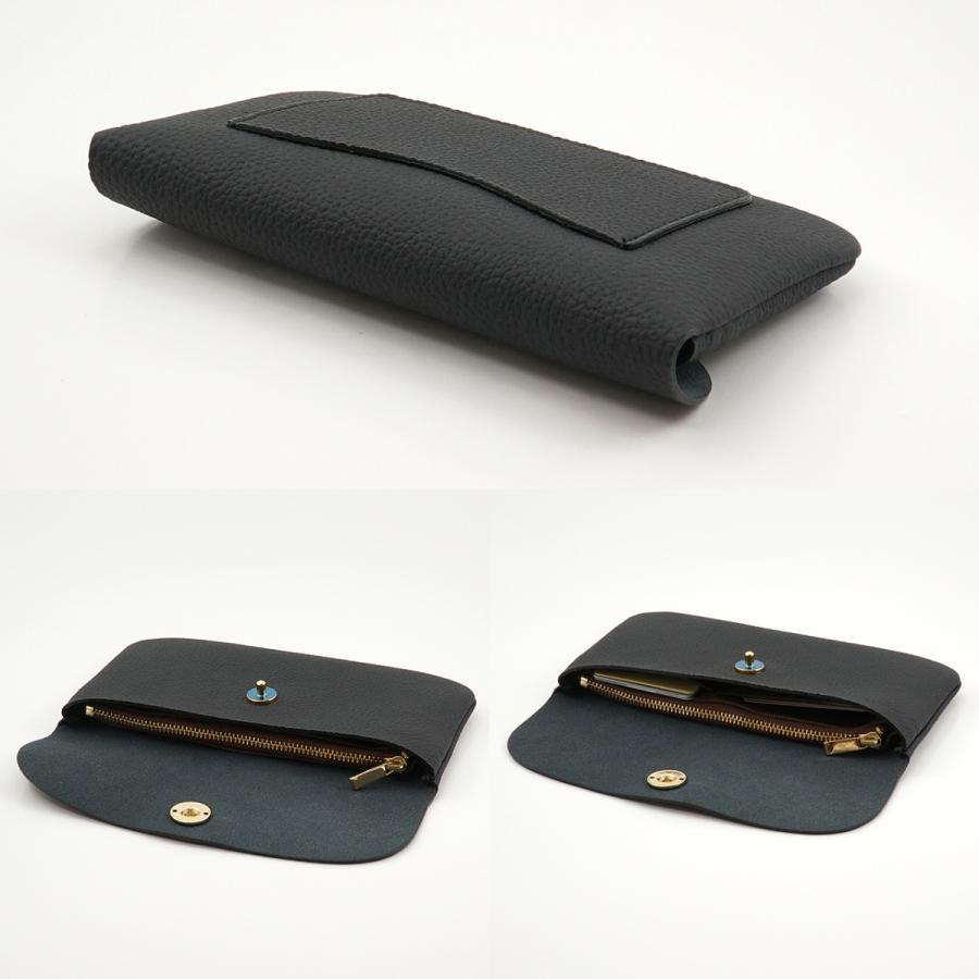 ドイツシュリンク ふっくら 可愛い 長財布 弾力ある革が魅力の カブセ型 本革 レディース 財布 マグネット式(ブラック)|zeppinchibahonpo|04
