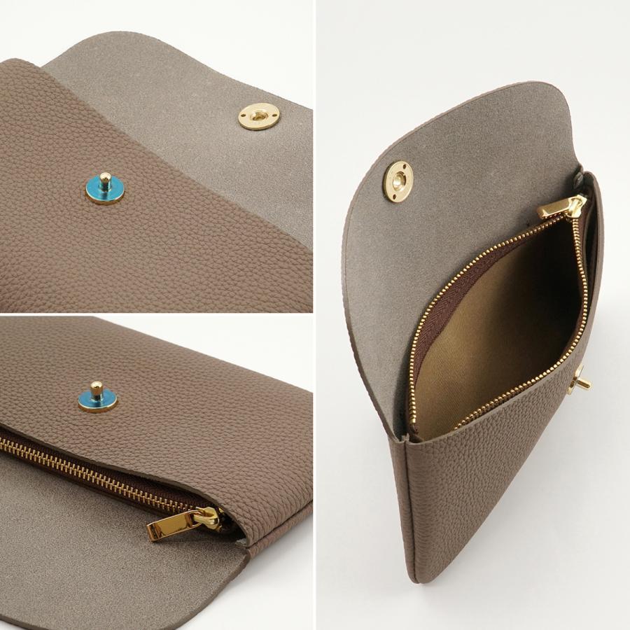 ドイツシュリンク ふっくら 可愛い 長財布 弾力ある革が魅力の カブセ型 本革 レディース 財布 マグネット式(トープ)|zeppinchibahonpo|05