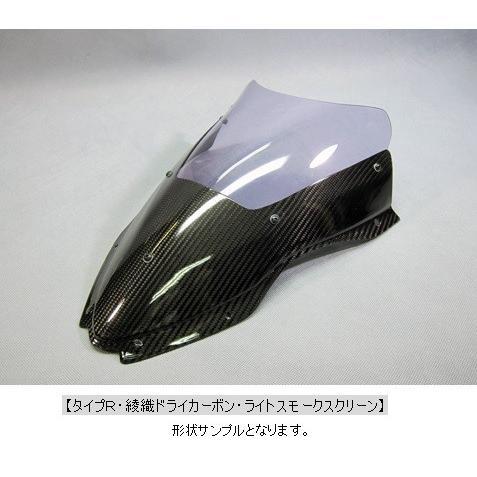 【気質アップ】 ZX-10R(16年〜) エアロスクリーンタイプR ライトスモーク 綾織ドライカーボン(DC) A-TECH(エーテック), チチブグン 0c29a55d