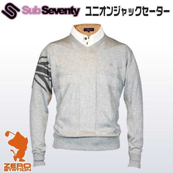 [あすつく]SubSeventy サブセブンティー AS11002 メンズウェア ユニオンジャックセーター 秋冬用
