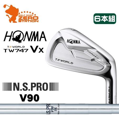 本間ゴルフ ツアーワールド TW747Vx アイアン HONMA TOUR WORLD TW747Vx IRON 6本組 NSPRO V90 スチールシャフト 日本モデル