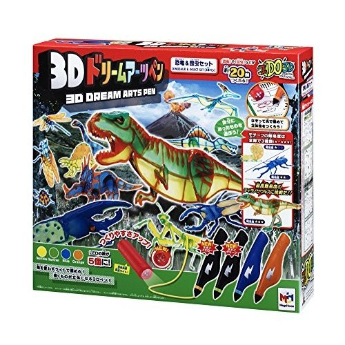 3Dドリームアーツペン 恐竜&昆虫セット(4本) 新品