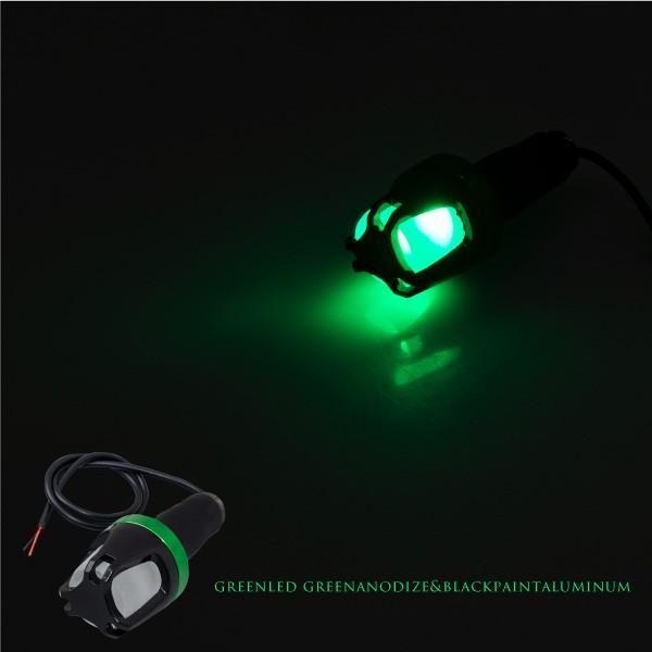バイク ハンドル バーエンドライト LED 車幅灯 左右 選べる2色 グリーン ブルー グリップ 汎用 あすつく対応  @28485 zest-group 03