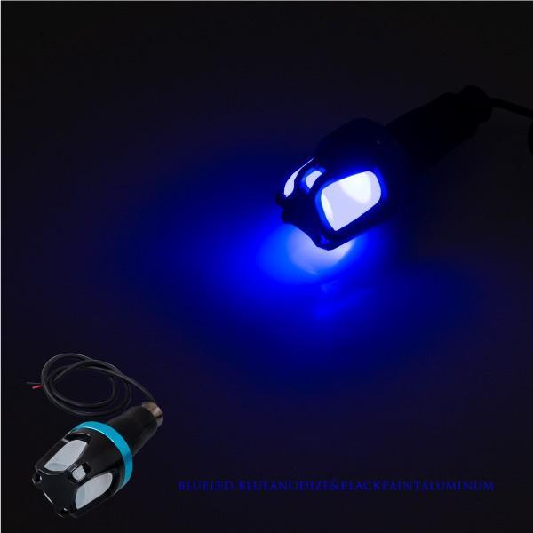 バイク ハンドル バーエンドライト LED 車幅灯 左右 選べる2色 グリーン ブルー グリップ 汎用 あすつく対応  @28485 zest-group 04