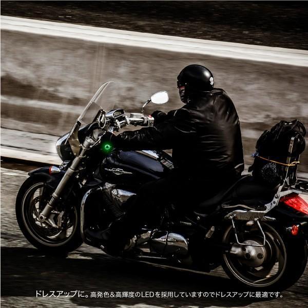 バイク ハンドル バーエンドライト LED 車幅灯 左右 選べる2色 グリーン ブルー グリップ 汎用 あすつく対応  @28485 zest-group 07