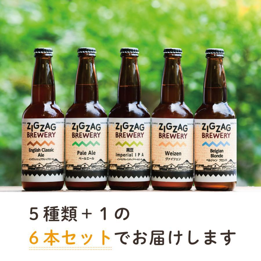 ZIGZAGブルワリー定番のおまかせ6本セット/クラフトビール/無濾過/酵母/ジグザグブルワリー/ZIGZAGブルワリー/丹波篠山|zigzagbrewery|02