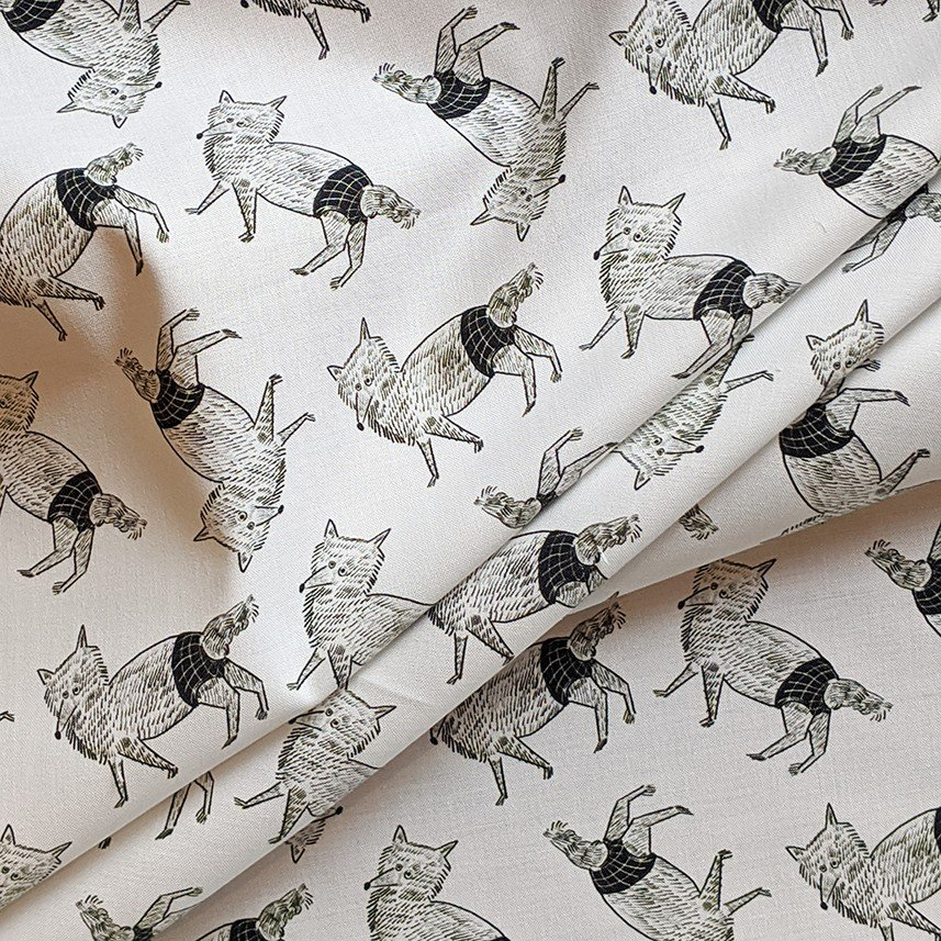 ダブルガーゼ or シーチング 生地 切り売り 10cm単位 綿100% 日本製  オオカミのzoi|zoizoi